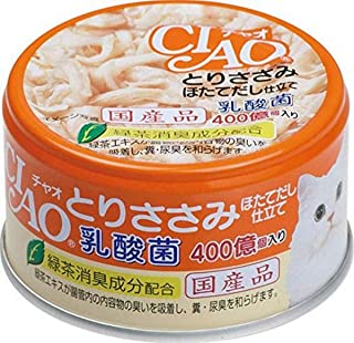 Inaba-Ciao Lactobacillus Chicken in Scallop Broth, 24 Cans, 85 Grams