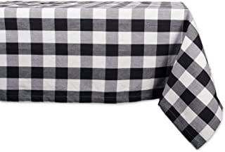 DII Cotton Buffalo Check Plaid Square Tablecloth for Family Dinners or Gatherings, Indoor or Outdoor Parties, & Everyday Use (52x52