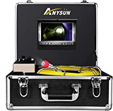 Sewer Inspection Camera Waterproof Ip68 65ft Plumbing Pipe Snake Cam Duct HVAC 1000TVL Sony CCD Chimney Borescope Endoscope Video Equipment 7 Inch LCD Monitor 20M Cable Lights Adjustable(No DVR)