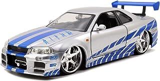 Jada Toys Fast & Furious 124Diecast Nissan GT R R34–Vehículo, Plateado
