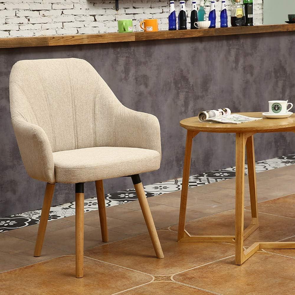 Chaise de salle, Fauteuil Chambre Chaise Ordinateur Intérieur Coton Lin Conférence Coussin Chaise de réception avec dossier (Color : Red) Gray