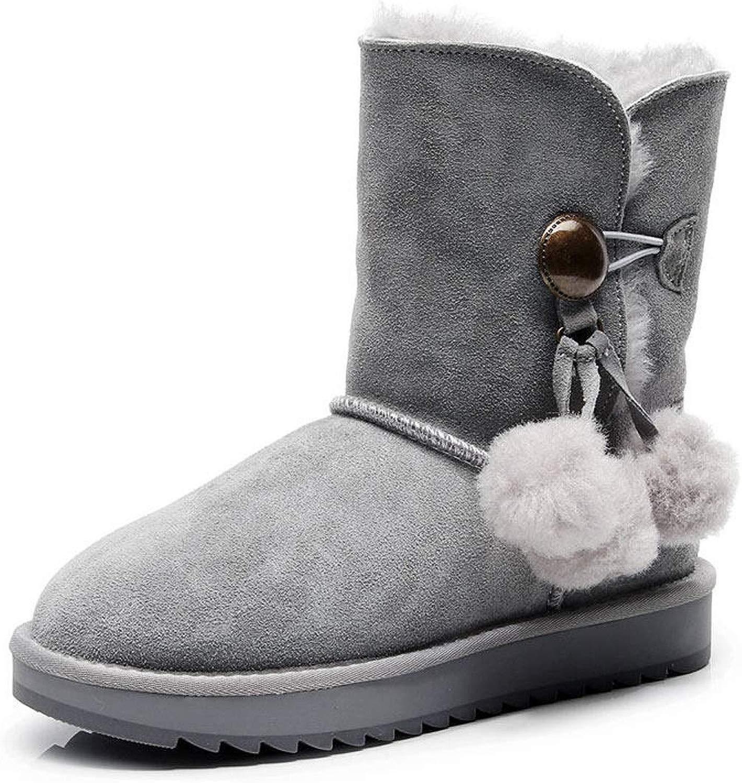DeANJIE Snow stivali da Donna 2018 Nuovi con Flat Heel 3 Stivaletti Casual Pom-Pom Moda Sautope Calde per l'autunno e l'inverno