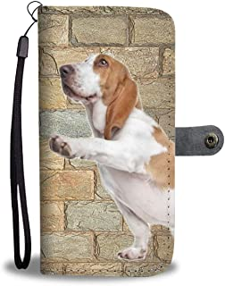 Passport Case For Men Basset Hound With Flying Ears Stylish Pu Leather Passport Holder Cover For Men Cartoon Passport Holder Cover For Women Men Passport Holder Case For Men