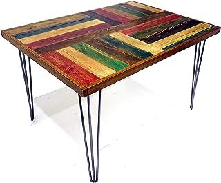 """Tavolo da soggiorno o cucina personalizzabile""""Joan Miró model"""". Piano in listoni di pallet con cornice in faggio. Gambe a ..."""