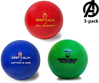 Pure Origins   ☆☆ Superhero Stress Balls ☆☆   Keep Calm and Call The Avengers!   3 Pack   Avengers Fidget for Stress Relief, Concentration, Anxiety, Motivation, ADHD, ADD, Autism, Humor (Avengers)