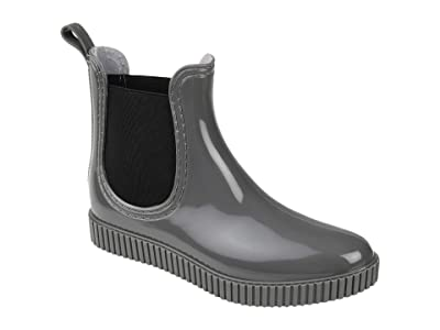 Journee Collection Comfort Foam Drip Rain Boot (Grey) Women