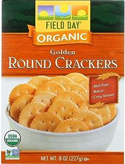 Field Day Organic Golden Round Crackers, 8 oz