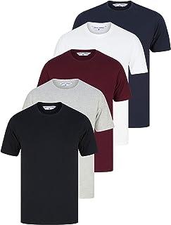 Tokyo Laundry Men's (Pack of 5) Cotton Jersey Plain T-Shirt Set