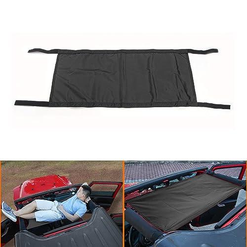 Car Roof Rest Bed Hammock for Jeep Wrangler & Wrangler Unlimited JK (Black)