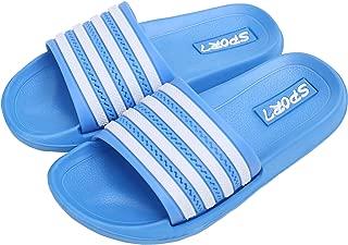 Kids Lightweight Slide Sandals- Wearproof Slides Sandals Shoes for Indoor or Outdoor-Flexible House Slipper Sport Slides for Boys Girls