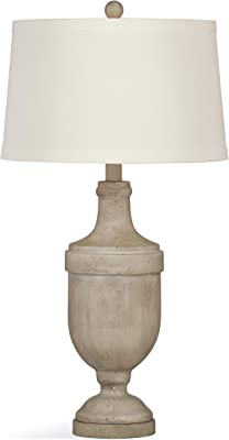 Bassett Mirror L3233TEC Stone Malta Table Lamp, Cement