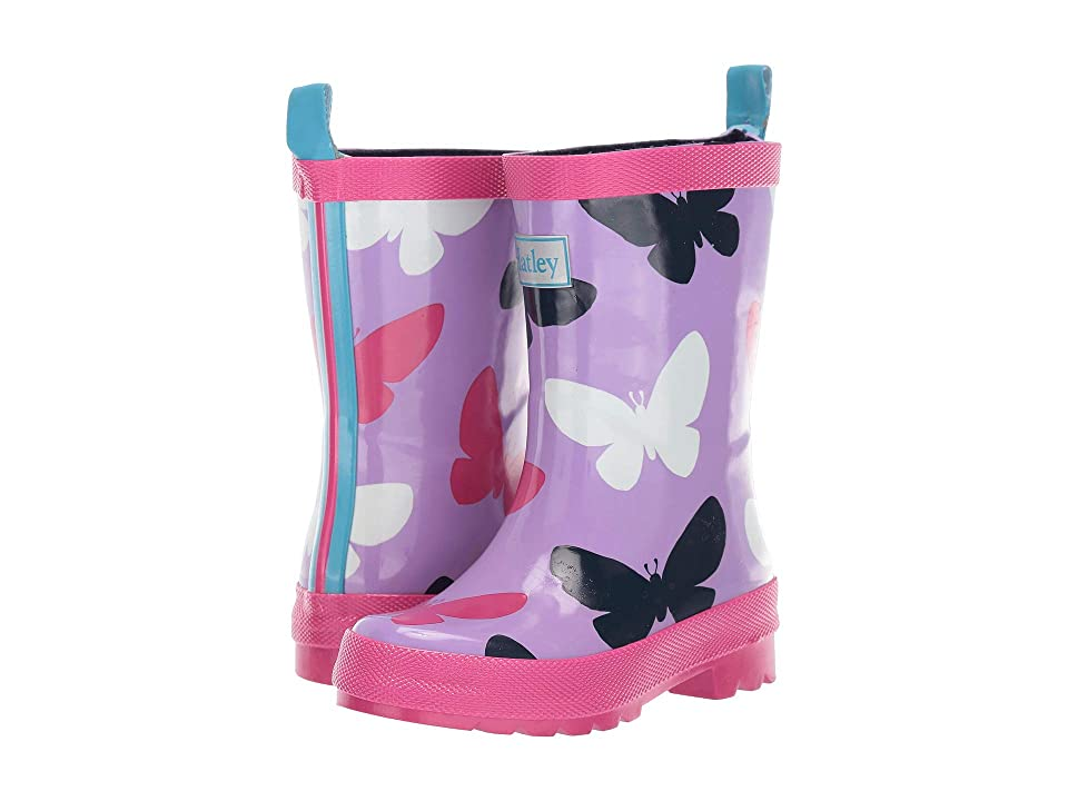 Hatley Kids Limited Edition Rain Boots (Toddler/Little Kid) (Silhouette Butterflies) Girls Shoes