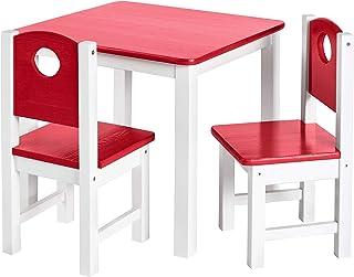 WOLTU KST005ws Chaise pour Enfants avec Pieds en Bois Hauteur de lassise 33cm,Petite Chaise en PP+PU avec Dossier pour Chambres denfants,Blanc
