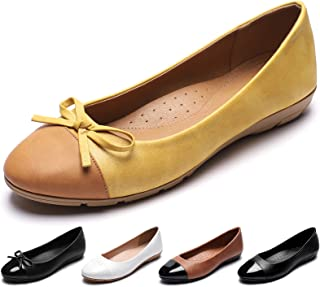 CINAK Women's Flats Comfort- Casual Round Toe Ballet Soft Walking Slip-on Dress Shoes