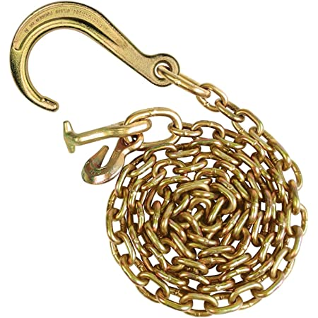 4,700 Pound Safe Working Load Grade 70-6 Foot VULCAN Johnstown Tow Chain with 8 Inch Forged J Hook and T Hook
