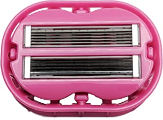 Classic Omnishaver - Pink - The Fastest Way to Shave Head, Legs, Arms, Body | Disposable Shaving Razor Self Cleans & Strops During Use | Hair Cutter with Durable Blade | Bald Head Shaver for Women