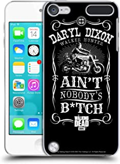 Official AMC The Walking Dead Motorcycle Black White Daryl Dixon Biker Art Hard Back Case Compatible for iPod Touch 5G 5th Gen