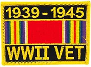 WWII Veteran Service Ribbon Patch 1939-1945 Military Collectibles