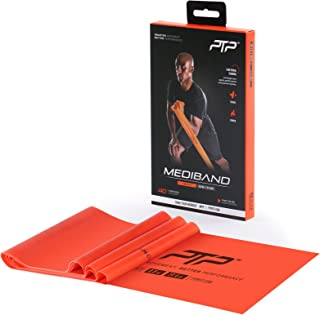 PTP MediBand Resistance/Pilates Band with Exercise Poster, Orange, Heavy