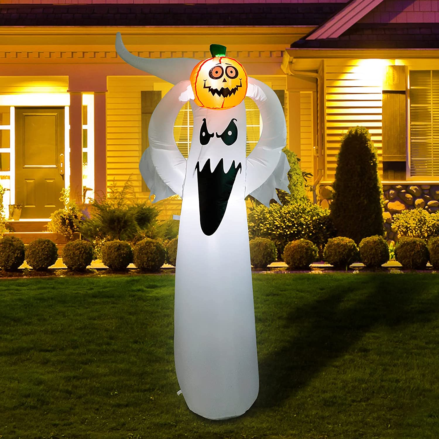 6FT Height In a popularity Halloween Inflatable Ghost H Holding Up Animer and price revision Pumpkin Blow