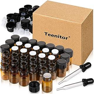 Teenitor 遮光瓶 2ml 精油小分け アロマオイル保存用遮光瓶 36本セット スポイト付け 遮光ビン アロマ保存容器 精油瓶 遮光ガラス瓶 茶色