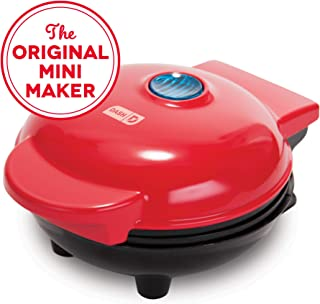 Dash DMS001RD Mini Maker Electric Round Griddle for Individual Pancakes, Cookies, Eggs..