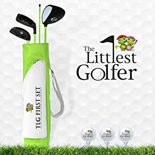 The Littlest Golfer Clubset: Kids Golf Clubs w/Golf Grips That Teach Proper Swing Technique