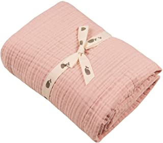 Muslin Blankets, Baby Toddler Quilt, 4 Layers, 100% Cotton Stroller Blanket, Hypoallergenic, Super-Soft, Breathable and Li...