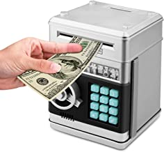 Zonkin Cartoon Electronic ATM Password Piggy Bank Cash Coin Can Auto Scroll Paper Money..