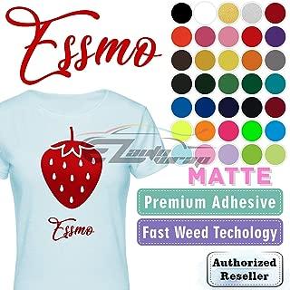 ESSMO Burgundy Matte Solid Heat Transfer Vinyl HTV Sheet T-Shirt 20