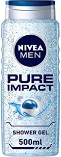 NIVEA MEN Pure Impact Shower Gel, Fresh Scent, 500ml