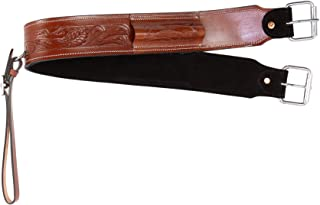 AceRugs Back Cinch for Western Saddles Smooth Leather Black TAN Brown Flank Cinch Rear Girth Bucking Straps