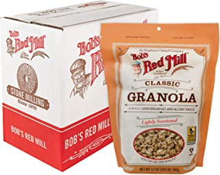 Bob's Red Mill Resealable Whole Grain Classic Granola, 12 Ounce (Pack of 4)