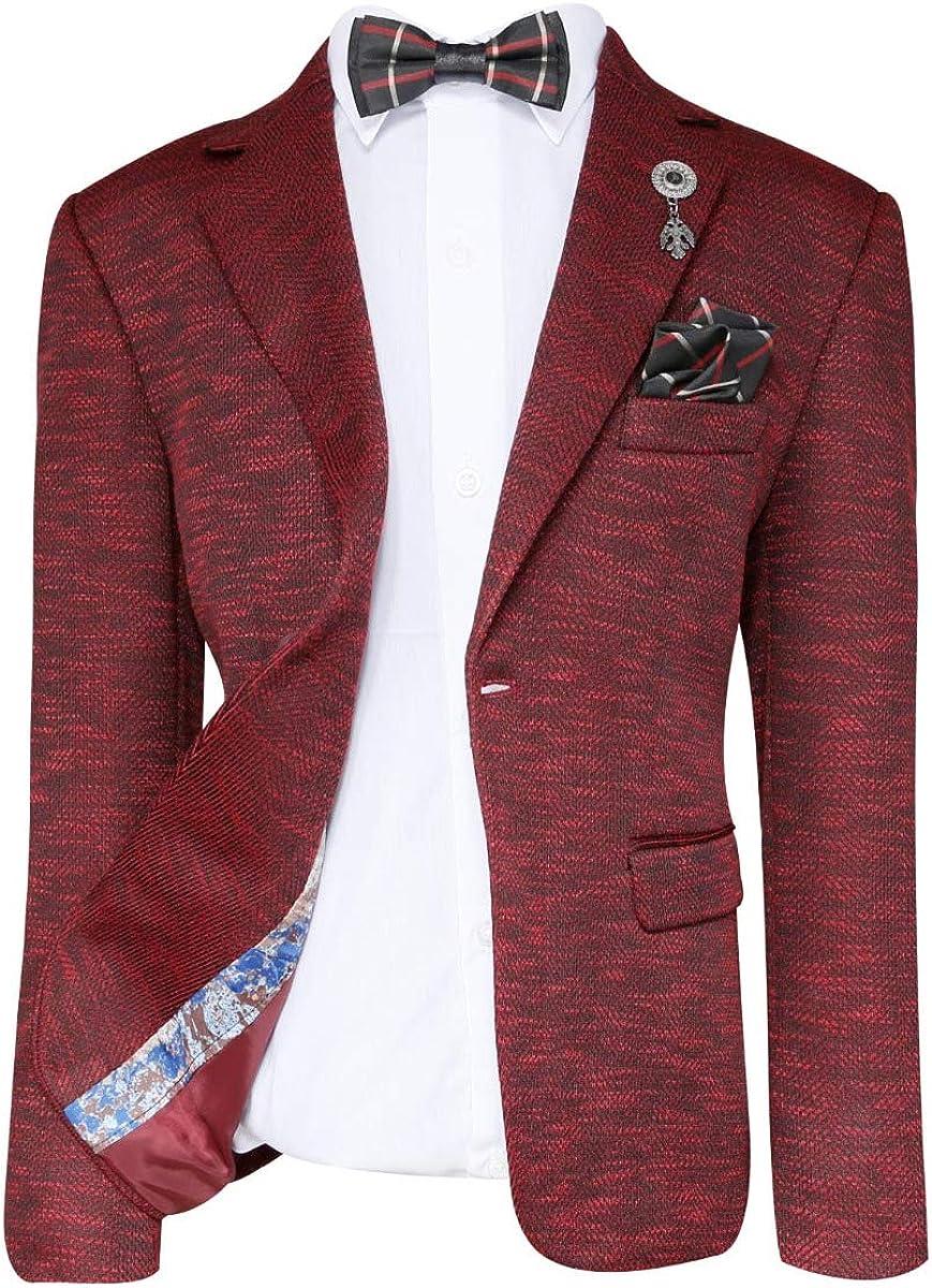 SIRRI Ragazzi su misura Birdseye Texture Formale Blazer Giacche