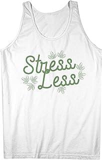 Stress Less Relax Chill Graphic Artwork おかしいです Hipster 男性用 Tank Top Sleeveless Shirt