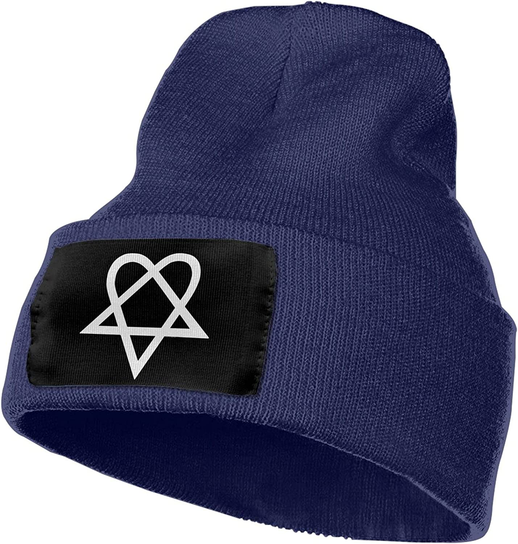 XIAGOU Heartagram Winter Unisex Beanie, Warm Knitted Hat, Skull Cap