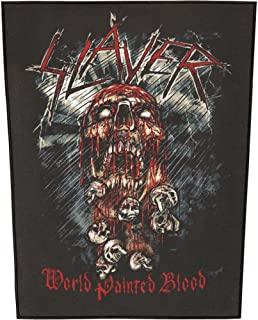 XLG Slayer World Painted Blood Back Patch Album Art Metal Jacket Sew On Applique