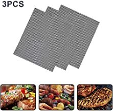 BBQ Grill Mesh Mat Set of 3-Non Stick Barbecue Grill Sheet Liners Grilling Mats Nonstick Fish Vegetable Smoking Accessories-Works on Smoker,Pellet,Gas,Charcoal Grill