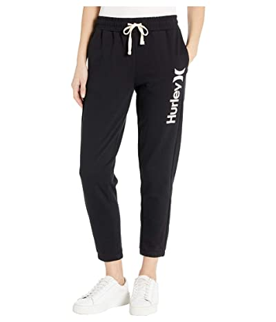 Hurley One and Only Fleece Joggers (Black/White) Women
