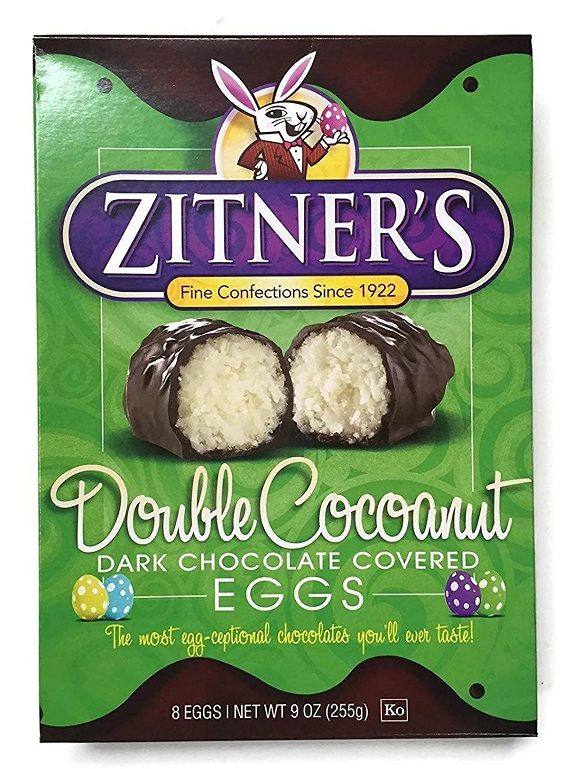 Zitner's Double Cocoanut Max 49% OFF Dark Chocolate Eggs of Covered Pack OFFicial site 2