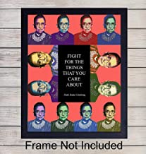 Ruth Bader Ginsburg Unframed Wall Art Print - Great Home Decor - Perfect Gift For Lawyers or Attorneys - RBG Motivational and Inspirational - Ready to Frame (8x10) Photo