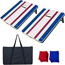 AceLife Cornhole Bean Bag Toss Game Set Light Weight Aluminum Frame with 8 Bean Bags and Carrying Case, Tailgate Size (3ft x 2ft)