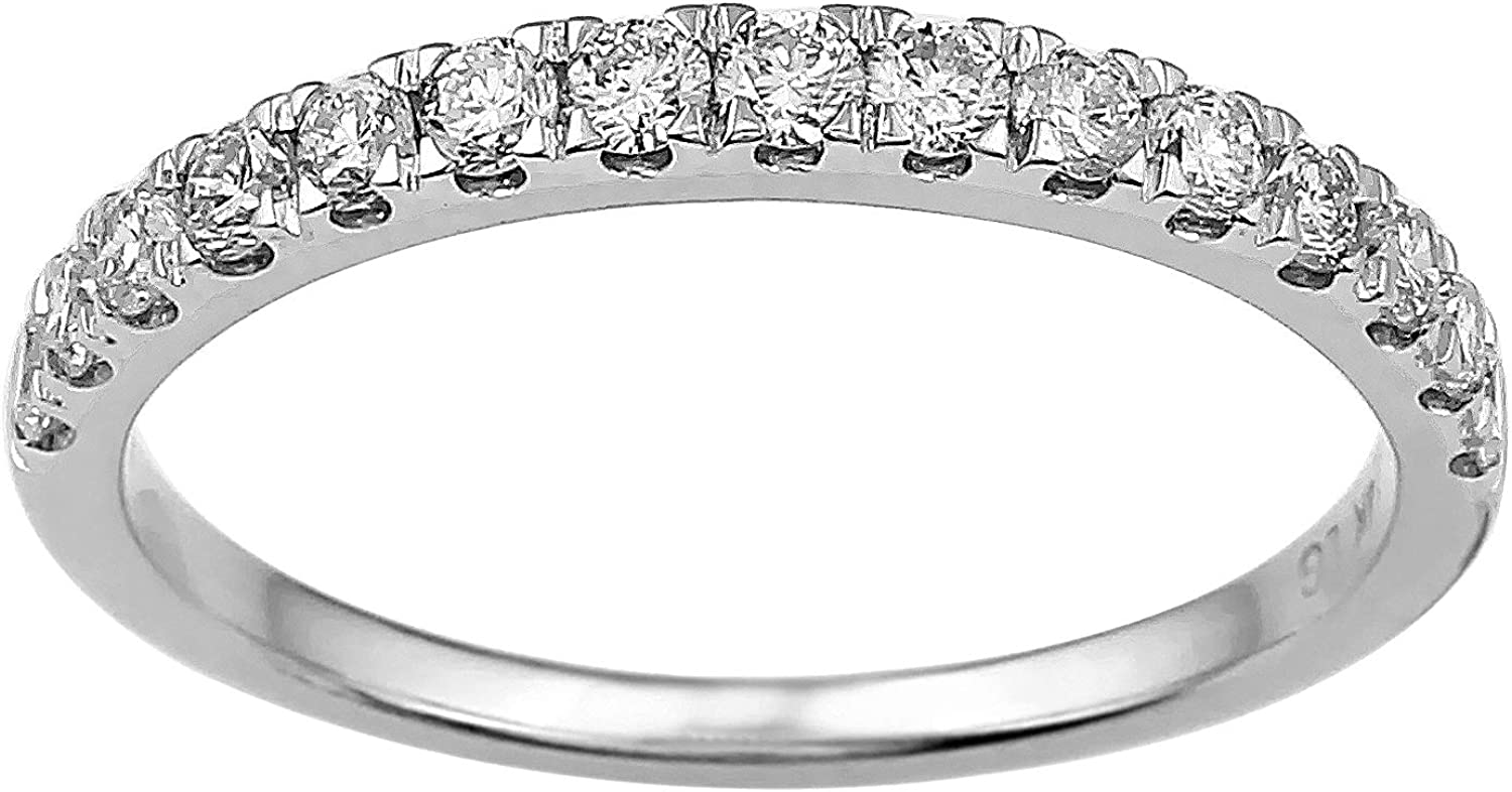 0.50ct Wedding Ring Band 14k White Gold Lab-Grown Diamond (F-G Color, VS-SI Clarity)
