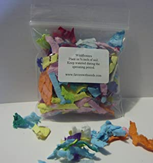 Pack of Ten 3 Inch Bags of Wildflower Confetti