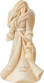 Enesco Foundations Christmas Angels Wishes Figurine, 7.48 Inch, Multicolor