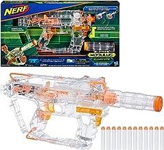 Evader Modulus Nerf Motorized Light-Up Toy Blaster Includes 12 Official Nerf Darts, 12-Dart Clip, Light-Up Barrel Extension, Multicolor