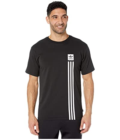 adidas Skateboarding BB Pillar Tee (Black/White) Men