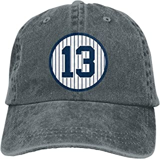 Unisex Baseball Hat Fashion Alex-Rodriguez-Number #13 Hat Sun Protetion Windproof Cap Deep Heather