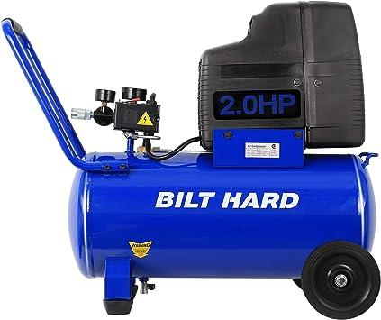 BILT HARD Air Compressor, 8 Gallon 150 PSI 2HP, 4.0CFM@90PSI, Oil Free, Max Speed 3400 RPM, Portable with Wheels: image