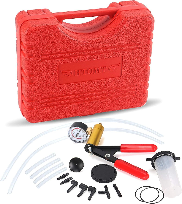 HTOMT 2 in 1 Brake Bleeder Kit Handheld Vacuum Pump Test Set